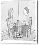 A Man Talks To His Wife Over Tea Acrylic Print