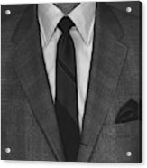 A Man Wearing A Suit Acrylic Print