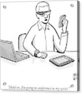 A Man Wearing Google Glasses Acrylic Print