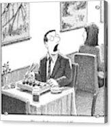 A Man Yelling Loudly Acrylic Print