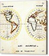 A Map Of The World  Amy Baldwin Sc Acrylic Print