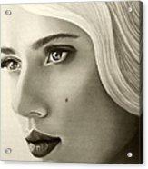 A Mark Of Beauty - Scarlett Johansson Acrylic Print