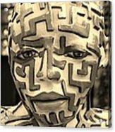 A Maze Ing Man 3 Sepia Acrylic Print