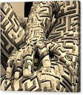 A Maze Ing Man 4 Sepia Acrylic Print