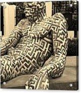 A Maze Ing Man 5 Sepia Acrylic Print
