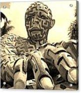A Maze Ing Man 6 Sepia Acrylic Print