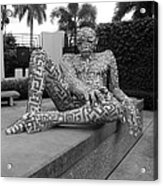 A Maze Ing Man Black And White Acrylic Print