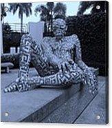A Maze Ing Man Cyan Acrylic Print