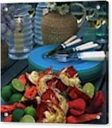 A Meal With Lobster And Limes Acrylic Print
