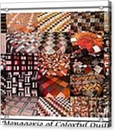 A Menagerie Of Colorful Quilts -  Autumn Colors - Quilter Acrylic Print