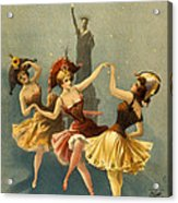 A Midnight Frolic Acrylic Print by Aged Pixel