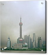 A Misty Pudong Acrylic Print