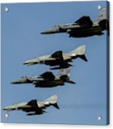 A Mixed Formation Of U.s. Air Force Acrylic Print