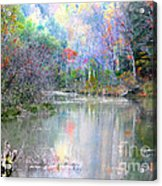 A Monet Autumn Acrylic Print