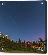 A Moonlit Nightscape Taken In Banff Acrylic Print