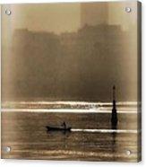 A Morning Paddle Acrylic Print by Henry Kowalski