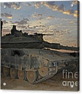 A Morning Prayer On An Israel Defense Acrylic Print