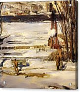 A Morning Snow On The Hudson River Acrylic Print