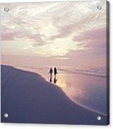 A Morning Walk On The Beach Acrylic Print