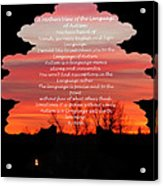 A Mother's View Of Autism Acrylic Print