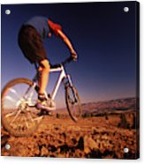 A Mountain Bike Rider On A Ride Acrylic Print