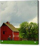 A Neat Red Barn Near Sheridan Wyoming Acrylic Print