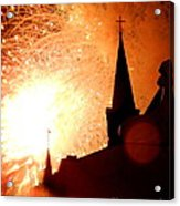 New Orleans St. Louis Cathedral A New Day A New Year In Louiisana Acrylic Print