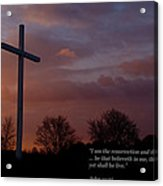 A New Day Dawning - With Scripture Acrylic Print