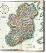 A New Map Of Ireland 1799 Acrylic Print