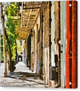A New Orleans Alley Acrylic Print