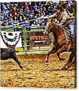 A Night At The Rodeo V10 Acrylic Print