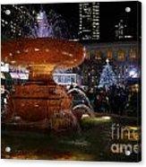 A Night In Bryant Park Acrylic Print by Nicholas Santasier
