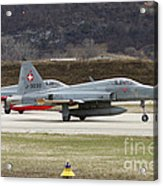 A Northrop F-5e Tiger Of The Swiss Air Acrylic Print