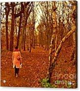 A November Stroll Through Formby Woods Acrylic Print