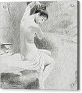 A Nymph Acrylic Print by Charles Prosper Sainton