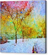 A Painted Winter Acrylic Print