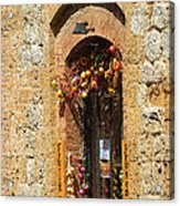 A Painting A Tuscan Shop Doorway Acrylic Print