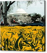 A Painting Jefferson Memorial Dali-style Acrylic Print