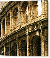 A Painting The Colosseum Acrylic Print