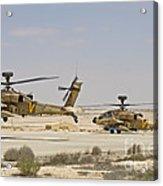 A Pair Of Ah-64d Saraf Attack Acrylic Print