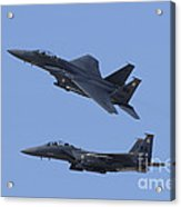 A Pair Of F-15c Eagle Aircraft Perform Acrylic Print