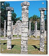 A Panoramic View Of Columns Surround Acrylic Print