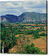 A Panoramic View Of The Valle De Acrylic Print