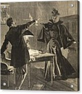 A Parisien Drama, Illustration From Le Acrylic Print
