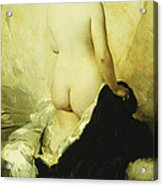 A Partially Draped Nude Acrylic Print by Charles Chaplin