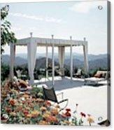 A Pavilion In The Backyard Of Bruce Macintosh's Acrylic Print