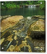 A Peaceful Early Morning At Little Niagra Waterfall A Acrylic Print