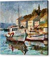 A Peaceful Harbour  Acrylic Print