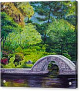 A Peaceful Place In Hiroshima Acrylic Print
