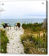A Peaceful Respite By The Shore Acrylic Print by Michelle Wiarda